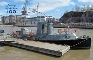 Yli 100-vuotias sotalaiva saapuu omin konein Naantalin venemessujen tähdeksi -